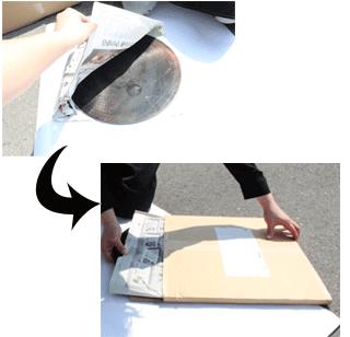 クレープ用鉄板・備品 返却時梱包手順1